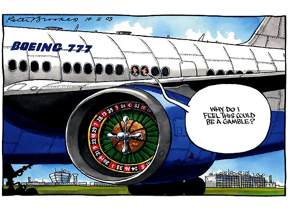 From The Times newspaper of London, are cartoon that portrays the situation until a real, final fix comes along.