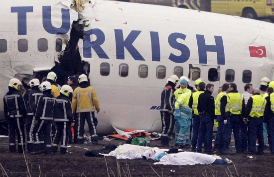 Note the fracture in the fuselage, denoting the area where most passengers were killed.