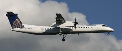 The Dash 8-Q400. Colgan Air was flying for Continental Express, hence the Continental livery.