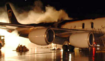 The UPS freighter fire; lithium batteries were found in the charred innards of the airplane.