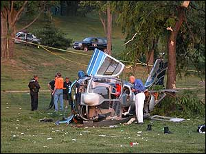 Seven people died when two medical helicopters collided in AZ in 2008