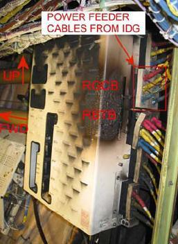 Damage to the P200 power panel.