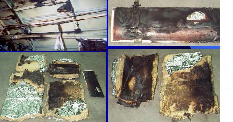 November 2000: fire damage to an American Airlines MD-80