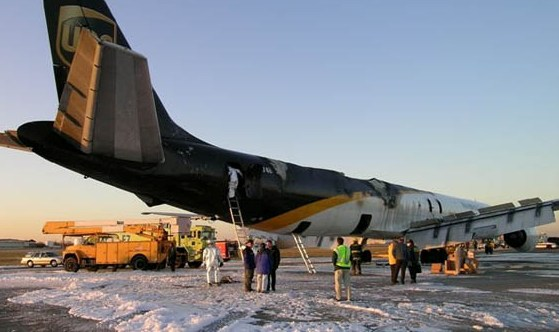 2006: a UPS DC-8F is destroyed by a fire started by a lithium battery