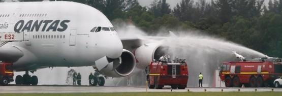 Dousing the engine because it could not be stopped from the cockpit.