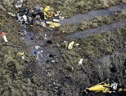All that was left of the PHI helicopter that fatally crashed in the swamp