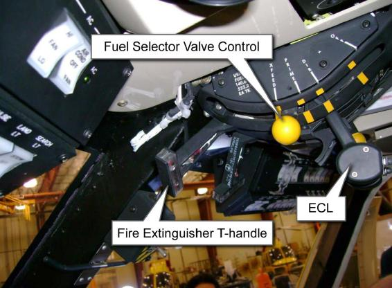 S-76C++ engine control quadrant